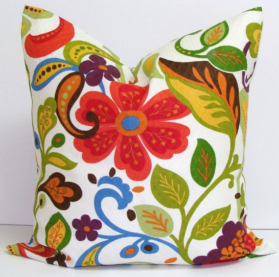 Floral Decorator Pillow by Elemen O Pillows - eclectic - outdoor