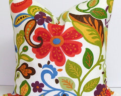 Floral Decorator Pillow by Elemen O Pillows eclectic-outdoor-cushions-and-pillows