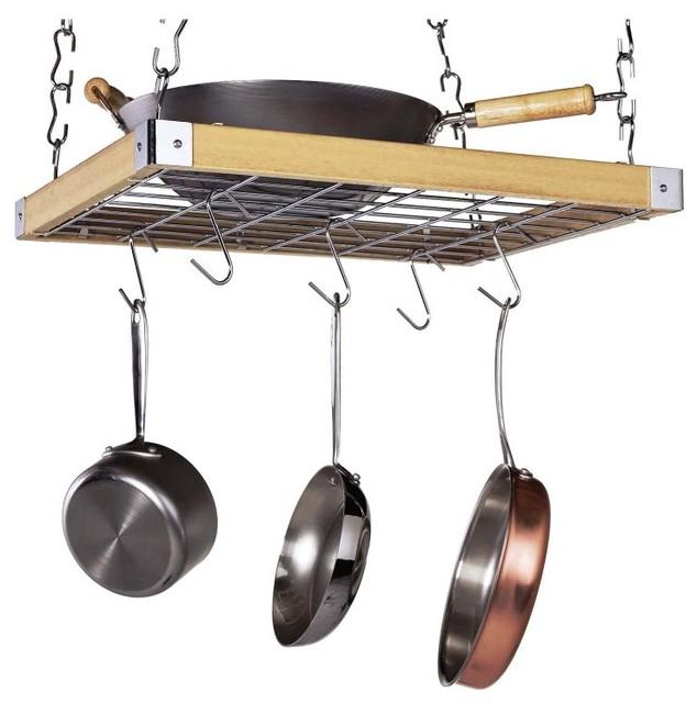Wood Ceiling Pot Rack - PR-40293 contemporary-pot-racks-and-accessories