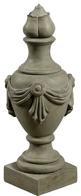 Nicolaos Tuscan Earth Finish Outdoor Urn contemporary-outdoor-pots-and-planters