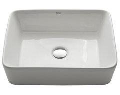 Kraus White Rectangular Ceramic Sink modern-bathroom-sinks
