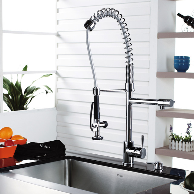 Kraus Plumbing Fixtures : ... Single Lever Pull Out Kitchen Faucet Chrome KPF-1602 kitchen-faucets
