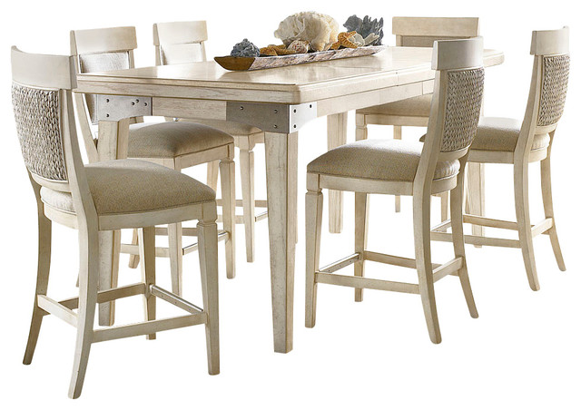 Beach Style Dining Sets: American Drew Americana Home 7-Piece Rectangular