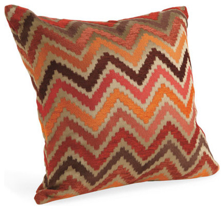 Chevron spice pillow decorative pillows by room board for Room and board pillows