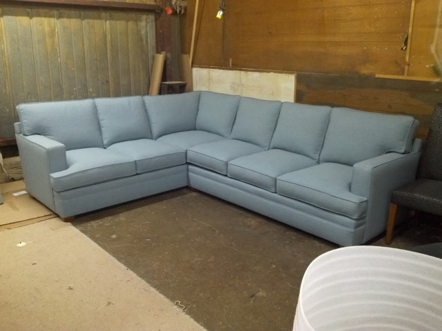 Track Arm Blue Sectional eclectic-sofas