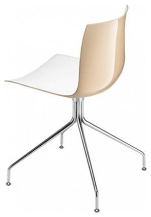 arper catifa 46 stuhl zweifarbig mit drehfu gestell. Black Bedroom Furniture Sets. Home Design Ideas