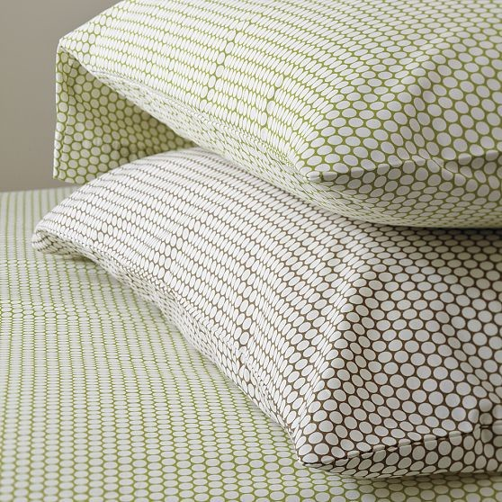Dot Print Sheet Set Modern Sheet And Pillowcase Sets