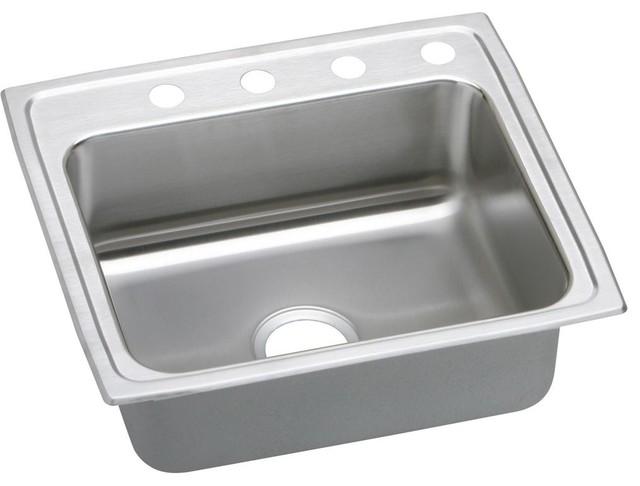 "22"" x 19.5"" x 6"" Single Bowl Kitchen Sink traditional-kitchen-sinks"