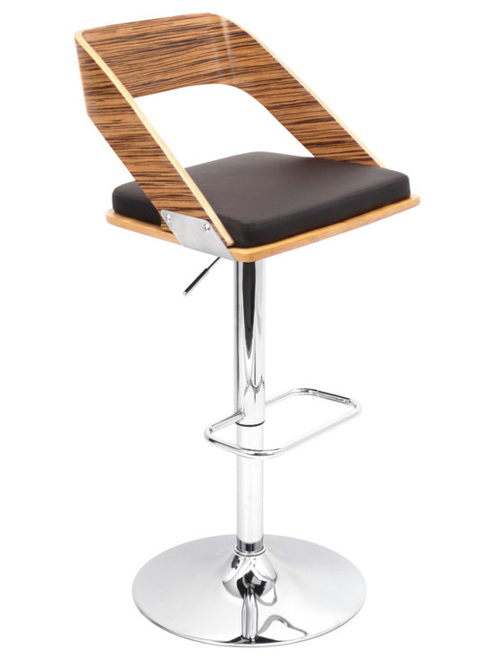 Vuno Bar Stool - ZEBRA/BROWN