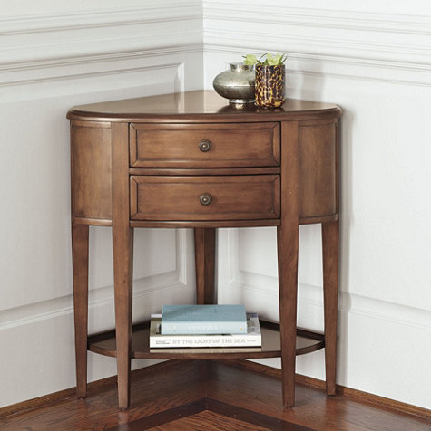 Newport Corner Console Traditional Nightstands And Bedside Tables By Ballard Designs