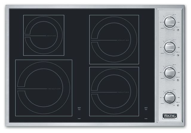 "Viking 30"" Induction Cooktop, Stainless Steel/black 