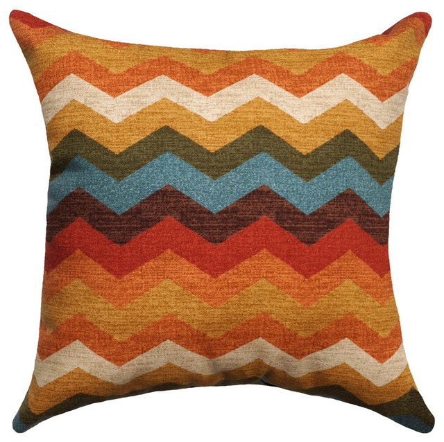 Waverly Decorative Throw Pillows : Waverly Panama Wave Throw Pillow, Adobe - Modern - Decorative Pillows - by Land of Pillows