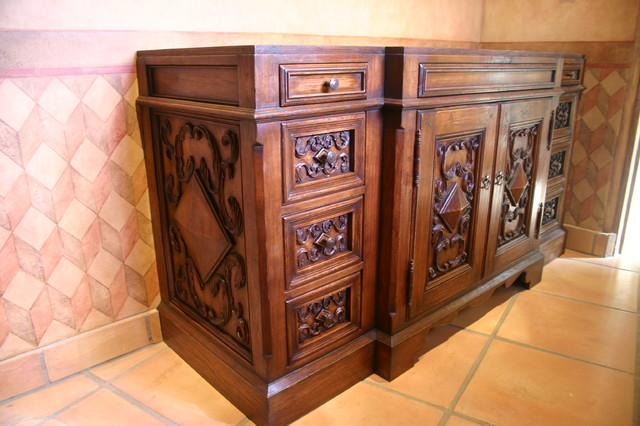 Bathroom vanity spanish style bathroom vanities and sink consoles san diego by david frisk for Bathroom vanities san diego