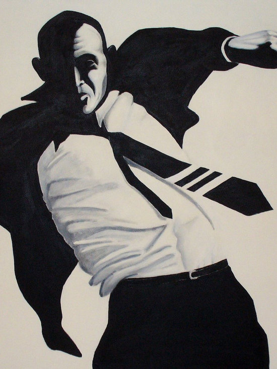 """Everybody Wanna Hit of Your Pipe Dream - Acrylic on canvas, 5'6"""" x 5'6"""". A self portrait."""