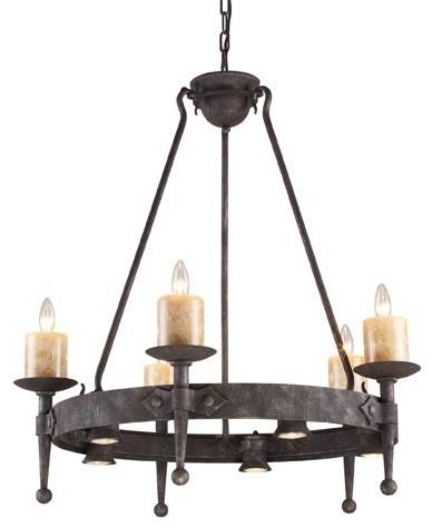 Cambridge Moonlit Rust Five-Light Chandelier traditional-chandeliers