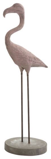 French Concrete Flamingo traditional-garden-statues-and-yard-art