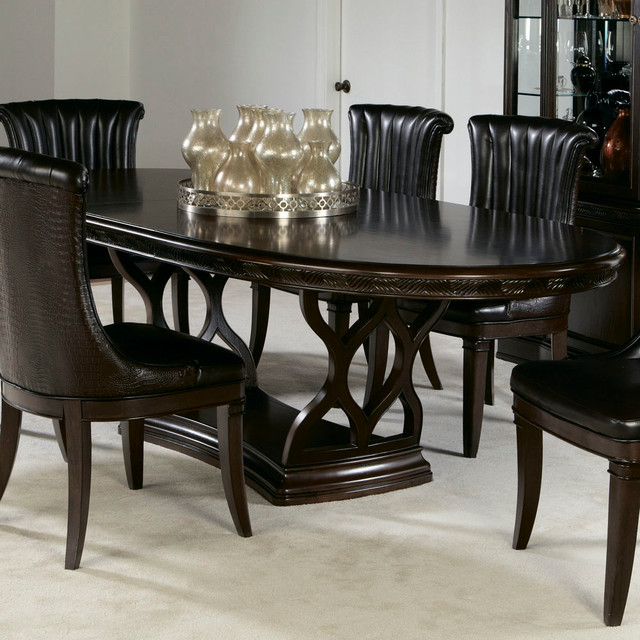 American drew bob mackie double pedestal oval dining table - Bob mackie discontinued bedroom furniture ...