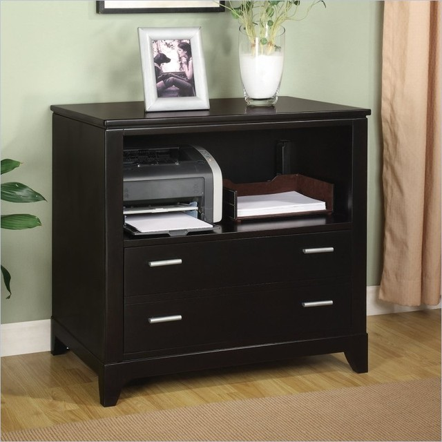 ... Filing Cabinet in Dark Sable transitional filing cabinets and carts