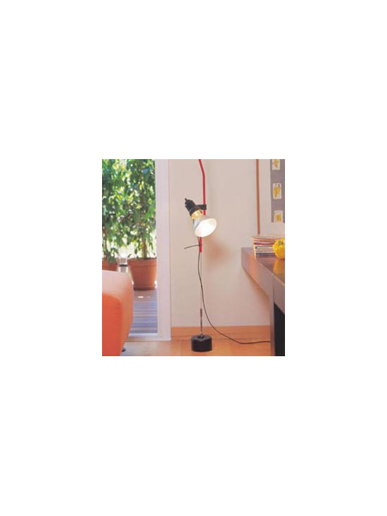 Parentesi Floor Lamp By Flos Lighting - Parentesi by Flos is a classic that has been in production since the 70's. Parentesi consist of a small ceiling mount, which can be trimmed to a specific size.