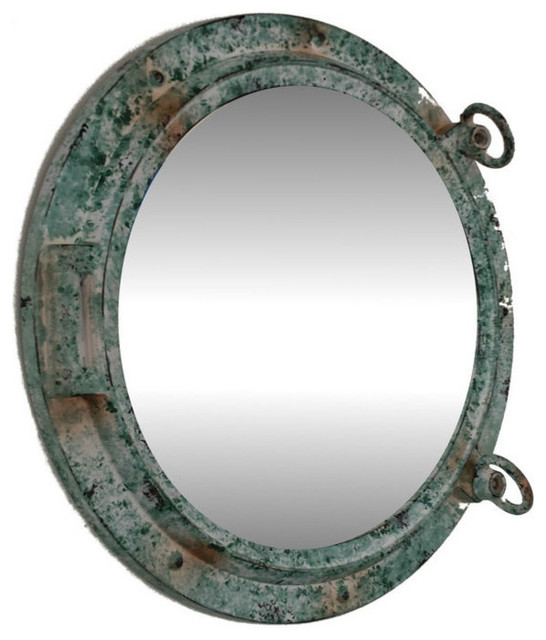 Titanic shipwrecked porthole mirror 15 39 39 porthole mirror for Porthole style mirror