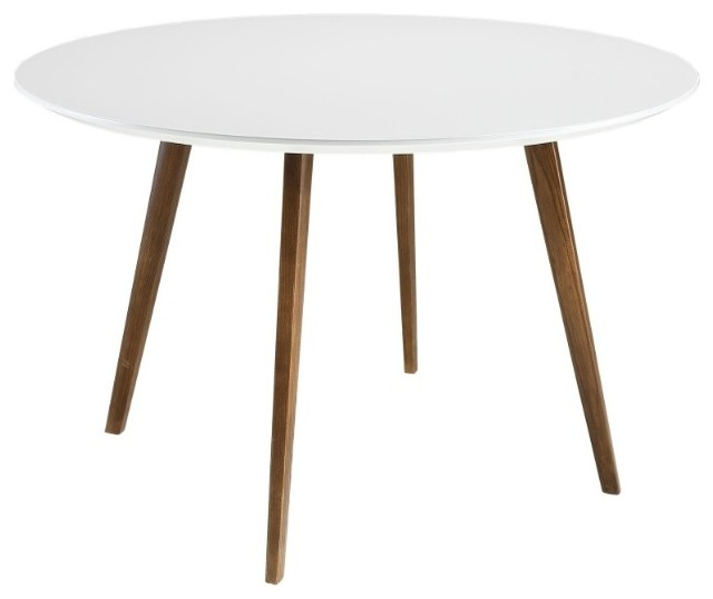 Molina Dining Table White Midcentury Tables