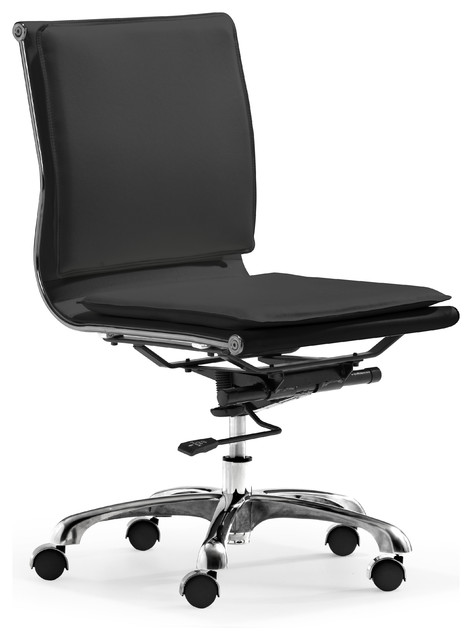 Lider Plus Armless Office Chair Black contemporary-task-chairs