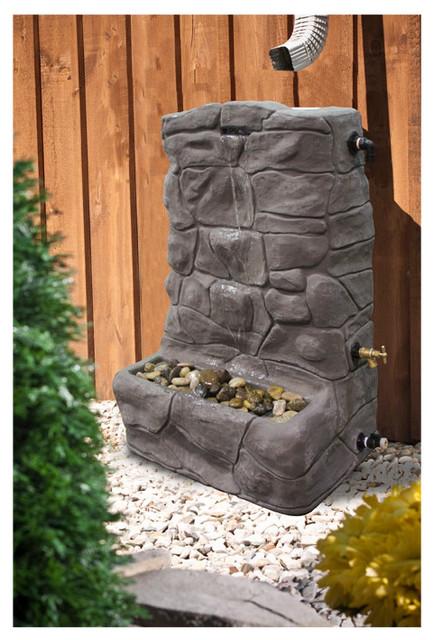 Granite Rain Collector / Rain Barrel Fountain irrigation-equipment