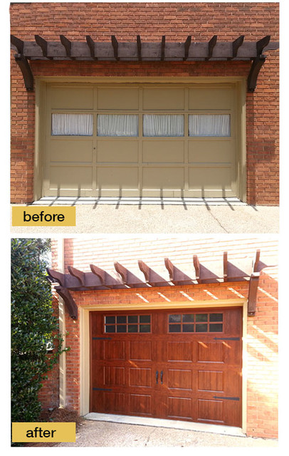 Before and after garage makeovers traditional garage and shed