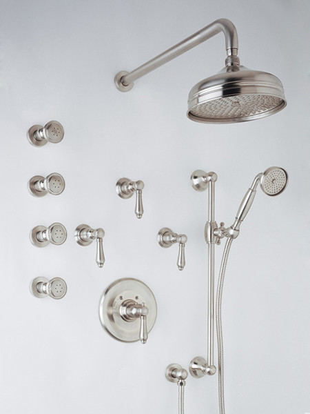 Rohl Country Thermostatic Kit Shower Trim traditional-bathroom-faucets-and-showerheads