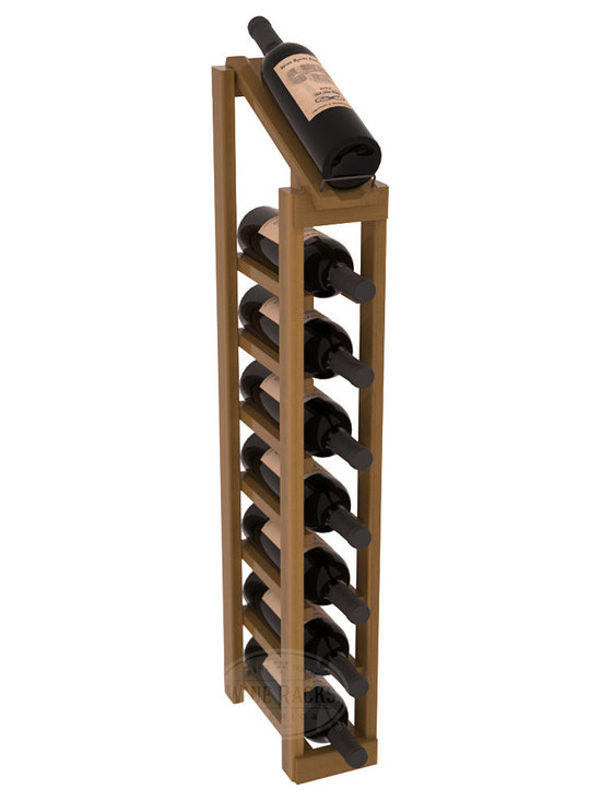Wine Racks America - 1 Column 8 Row Display Top Kit in Redwood, Oak Stain + Satin Finish - Make your best vintage the focal point of your cellar or store. The slim design is a perfect fit for almost any space. Our wine cellar kits are constructed to industry-leading standards. You'll be satisfied. We guarantee it. Display top wine racks are perfect for commercial or residential environments.