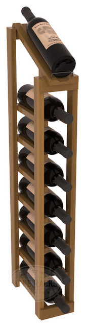 1 Column 8 Row Display Top Kit in Redwood, Oak Stain + Satin Finish contemporary-wine-racks