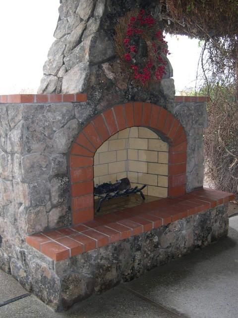 Custom Fireplaces traditional-patio