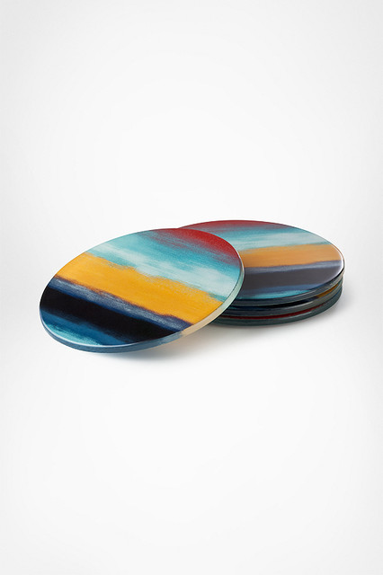 Diane von Furstenberg Decal Coasters in Sunset eclectic-coasters