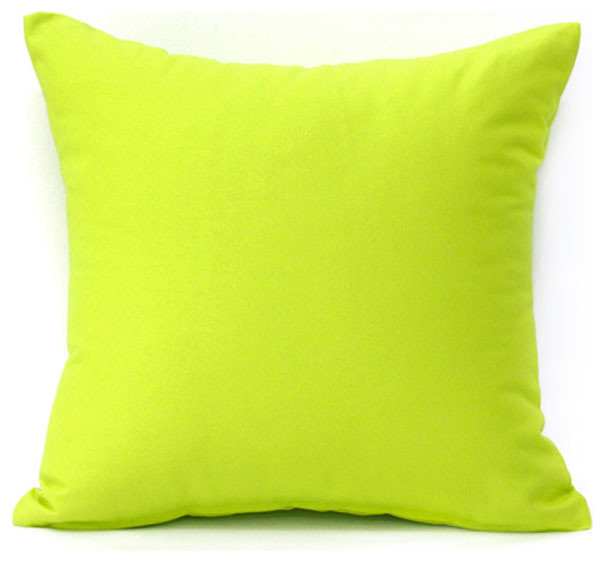 Solid Lime Green Accent / Throw Pillow Cover - Modern - Decorative Pillows - by Silver Fern Decor