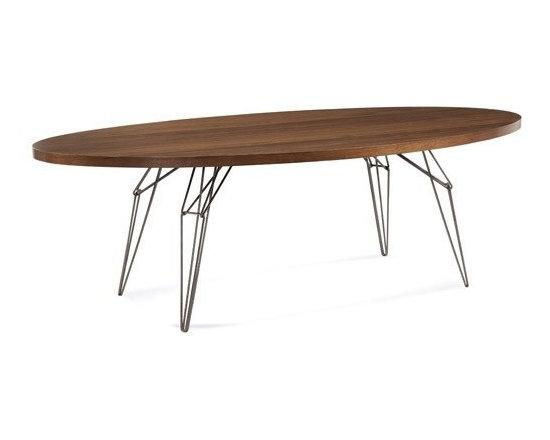 Saloom Furniture - Saloom Furniture | LEM 80-In. Ellipse Dining Table - Design by Peter Francis.