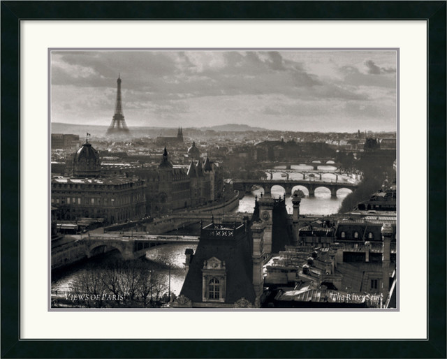 Views of Paris - The River Seine Framed Print traditional-prints-and-posters