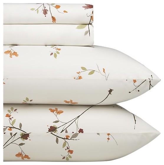 sakura california king sheet set contemporary sheets by crate barrel. Black Bedroom Furniture Sets. Home Design Ideas