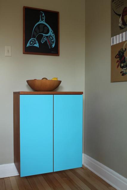 Blue Floating Cabinet - Modern - ottawa - by Handwerk Interiors