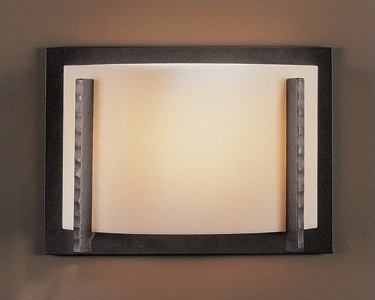 """16"""" One Light Wall Sconce with White Art Shade modern-wall-sconces"""
