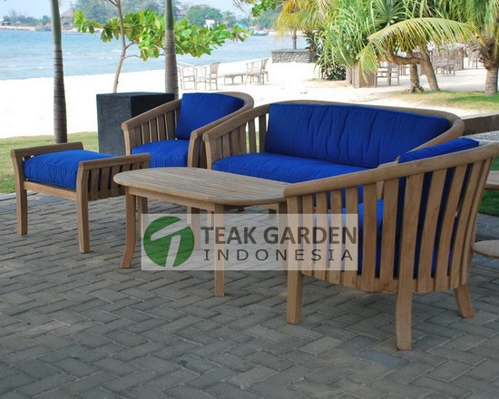 Teak Garden Furniture, Sofa, Deep Seating - Teak Sofa deep seating and love chair by CV. Teak Garden indonesia. Visit http://www.teakgardenindonesia.com for more info