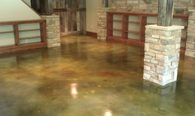 Stained Concrete Flooring Traditional St