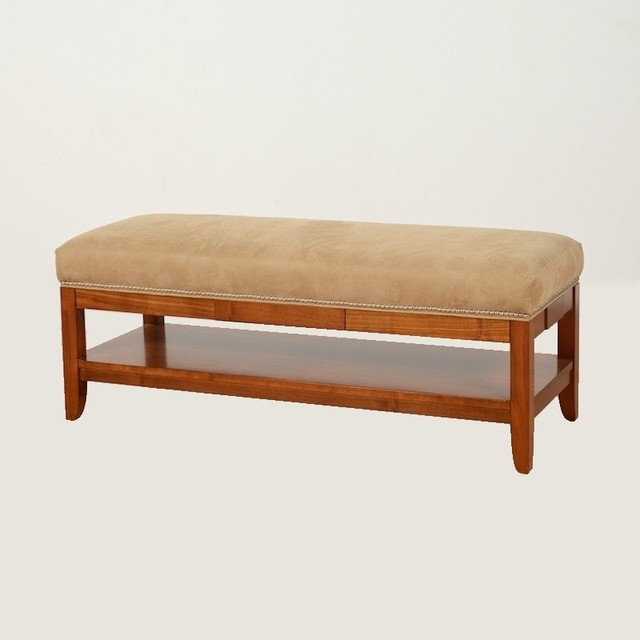 Mid century french style bench by hurtado w suede for Garage seat fontaine