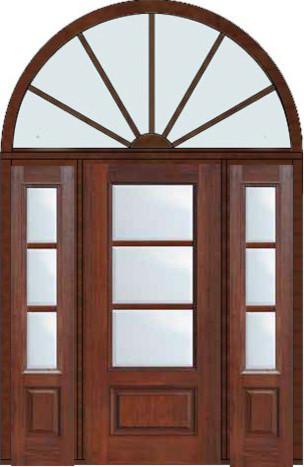 Prehung French Single Door 96 Wood Mahogany Full Lite 12 Lite modern-patio-doors