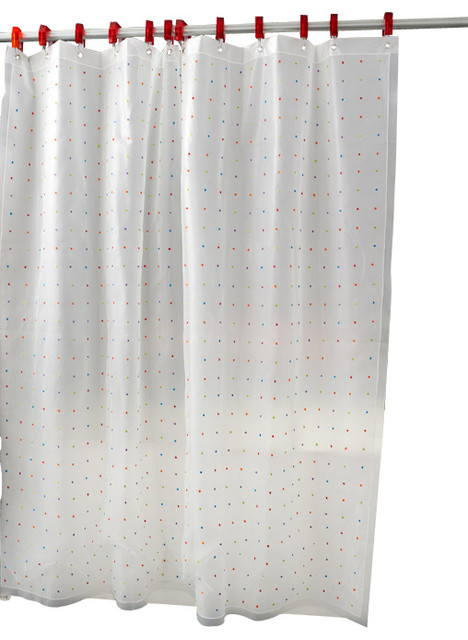 color coded shower curtain multi color contemporary