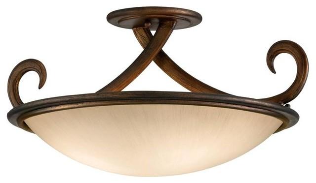 Corbett Lighting 153-33 Dauphine 3 Light Semi-Flush ceiling-lighting