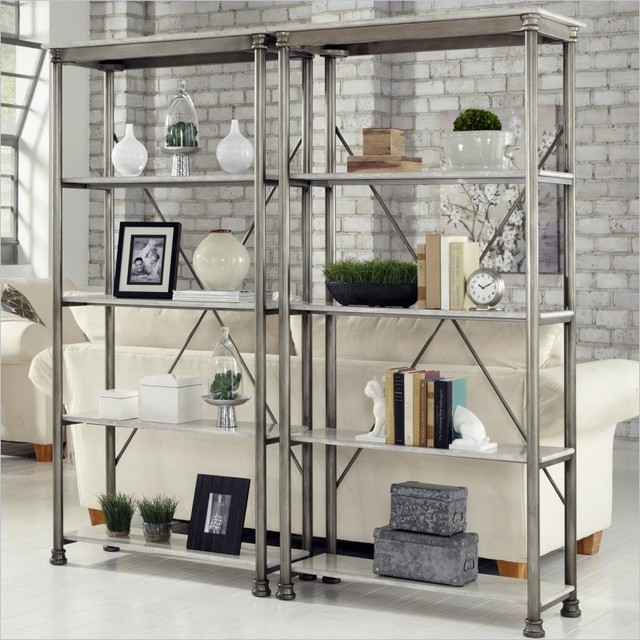 Home Styles The Orleans Multi-Function Etagere Set transitional-bookcases-cabinets-and-computer-armoires
