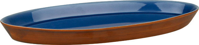 Pure Nature Blue Oval Platter contemporary-serving-dishes-and-platters