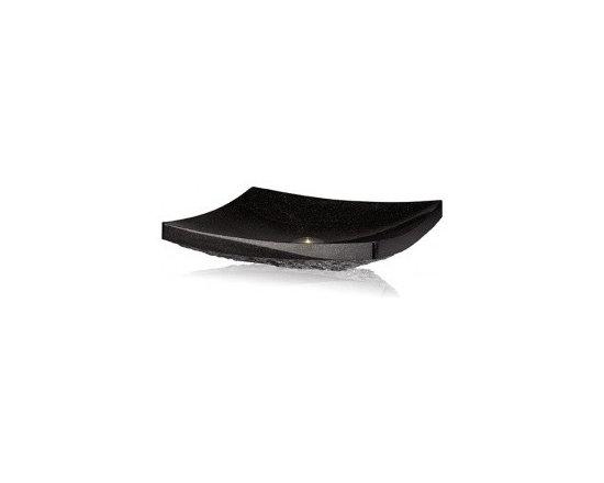 Asian Style Bathroom - Lenova SAC-07-GRANITE Stone Above Counter Rectangular Bowl Bath Sink
