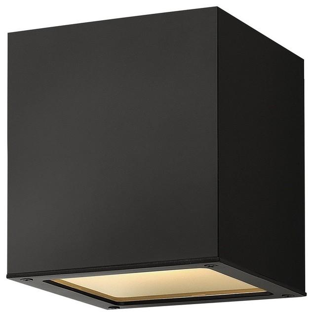 Contemporary outdoor flush mount lighting : Hinkley lighting kube contemporary outdoor flush mount