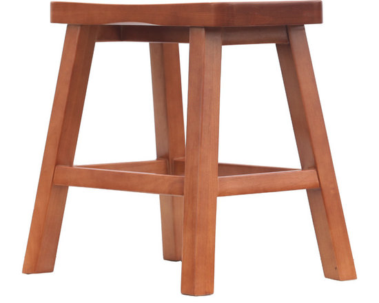 "Bar Stool, 19"" High - This bar stool is for vanity height seating. It is hand made of solid wood. No screws are used in its assembly. It is available in eight standard stains and seven wood species."